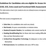 Guidance for Candidates having Access Arrangements for GCSE etc.