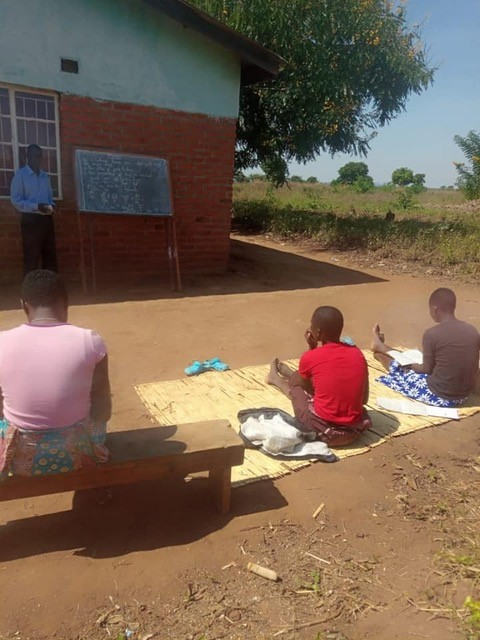 Some of our partners are involved in making sure high school age girls continue and complete education, and get qualifications. At this time schools are closed so they are providing 'socially distanced' classes for the girls.